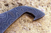 Damascus Bottle Opener for a BM Morpho