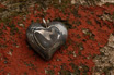 Stainless Damascus Heart Pendant