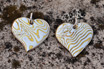 Mokume Heart Pendants
