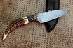 Cable Damascus Integral Knife